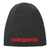 Viking Nation Knit Beanie Black