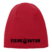 Viking Nation Knit Beanie Red
