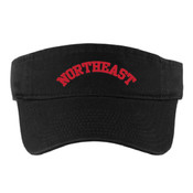 Embroidered Vikings Visor (BLACK)