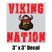 "3"" x 3"" Vikings Decal"