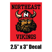 "2.5"" x 3"" Vikings Decal"