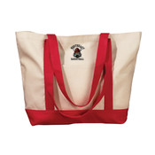Basketball Embroidered Canvas Tote Bag
