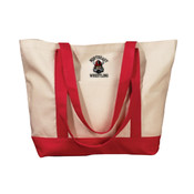 Wrestling Embroidered Canvas Tote